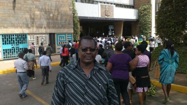 Umukuru w'ishirahamwe ry'abigisha ba Kaminuza ya Nairobi, Docteur Richard Bosire
