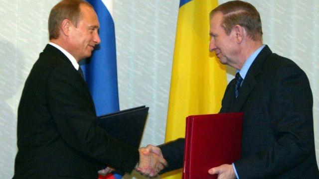 Володимир Путін та Леонід Кучма, 2003 рік