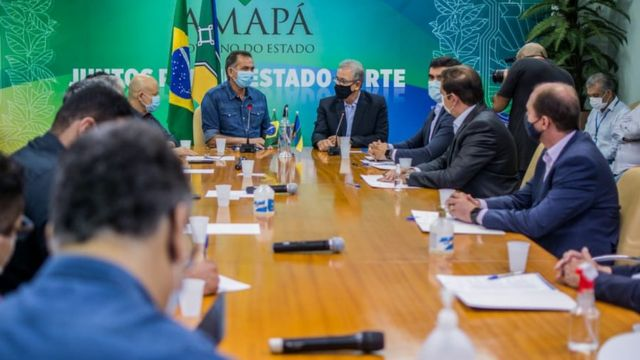 reunião entre representantes do governo do Amapá e do governo federal