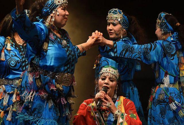 صورة أرشيفية من احتفالات الأمازيغ برأس السنة الأمازيغية. يناير/كانون الثاني 2015