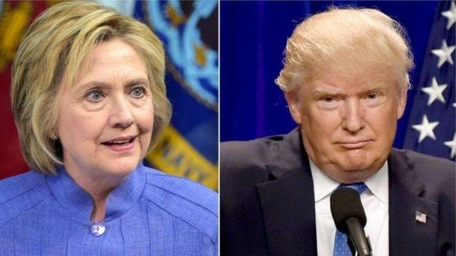 हिलेरी क्लिंटन और डॉनल्ड ट्रंप