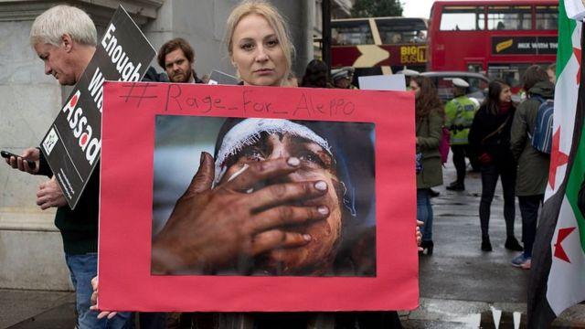 تجمع همدردی با سوریها در لندن، بریتانیا