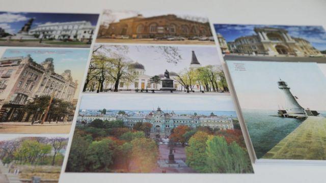 Старая и новая Одесса на почтовых открытках
