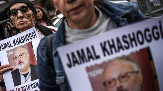 Protestas en Turquía por la muerte de Jamal Khashoggi.