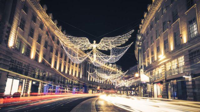 Рождественская иллюминация Лондона