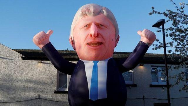 inflatable of Boris Johnson