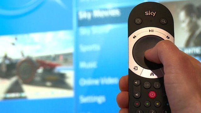 Sky Q television remote