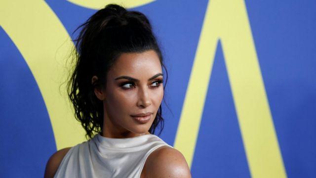 Kim Kardashian photographed in New York in June 2018