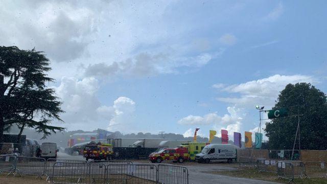 Latitude Festival: Lightning brings music to a halt