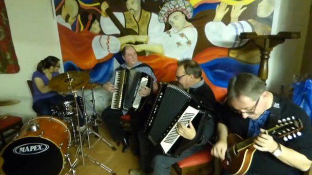Mick Antoniw and his Malanka band