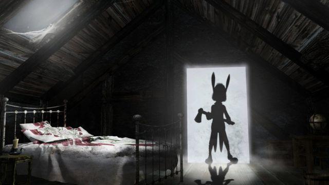 Criatura en el arco de la puerta