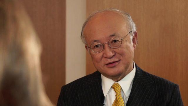 Yukiya Amano, the head of the IAEA.