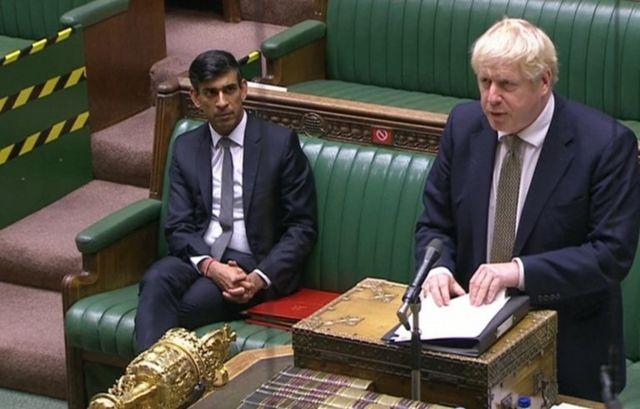 İngiltere Maliye Bakanı Rishi Sunak ve Başbakan Boris Johnson