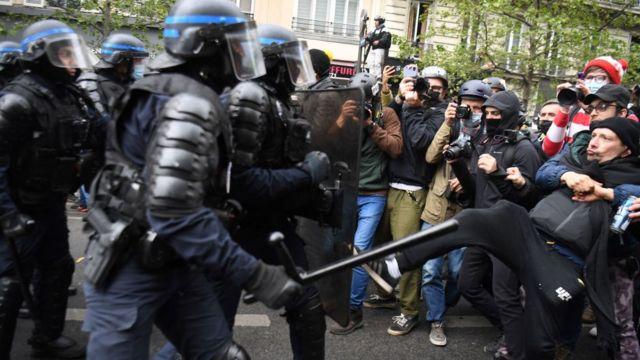 1 мая Париж протесты