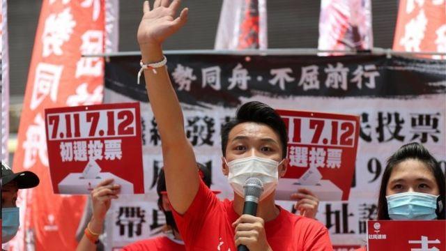 民阵召集人岑子杰高票获胜。
