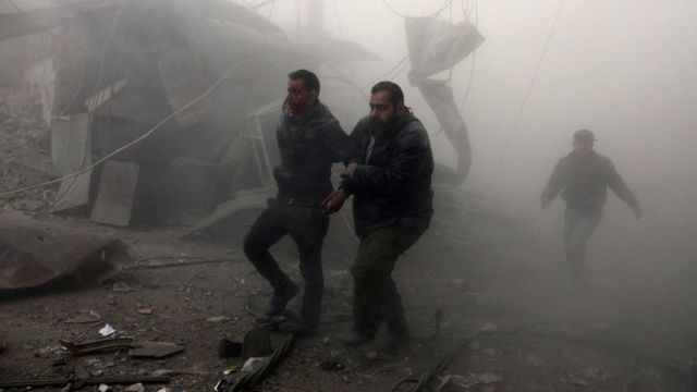 Duqaymaha ayaa ka dhacaya magaaladda Ghouta