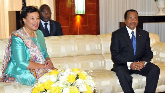 Elle a été reçue mardi par le président Paul Biya, selon Richard Onanena, correspondant de la BBC à Yaoundé, la capitale du Cameroun.