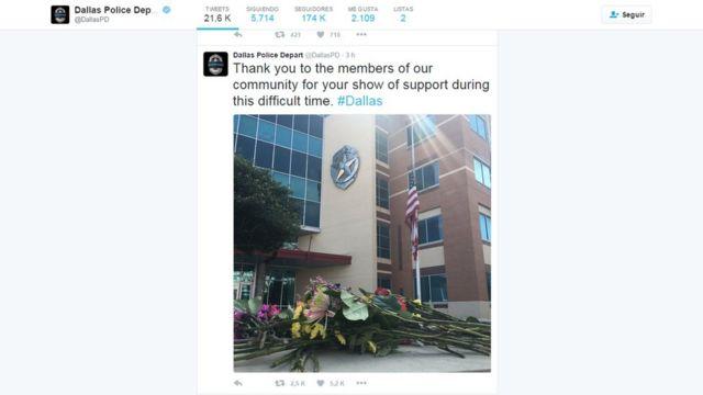 Twitter de la Policía de Dallas.