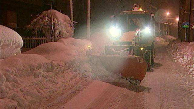 Snow in Abruzzo region