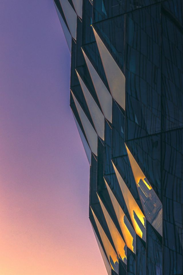 夕阳下的纽约曼哈顿大楼