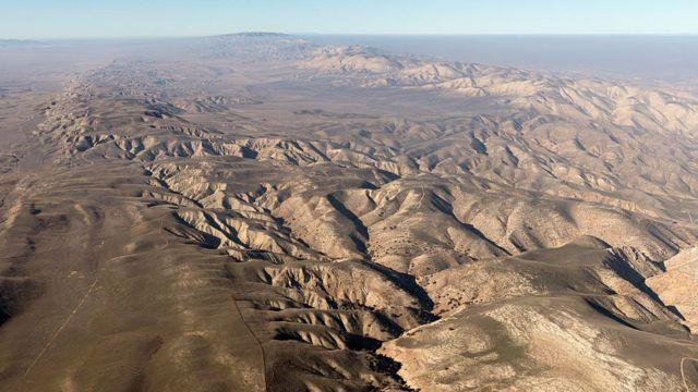 Vista de la falla de San Andrés.
