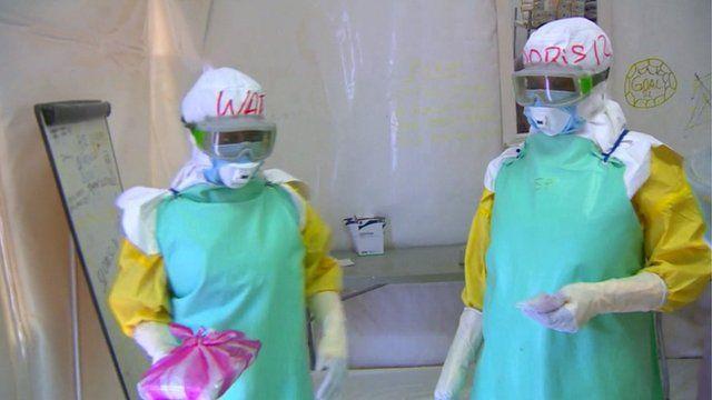 Health workers in Sierra Leone