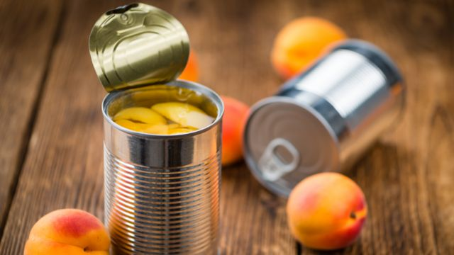 Foods for families on low incomes will include tinned fruit