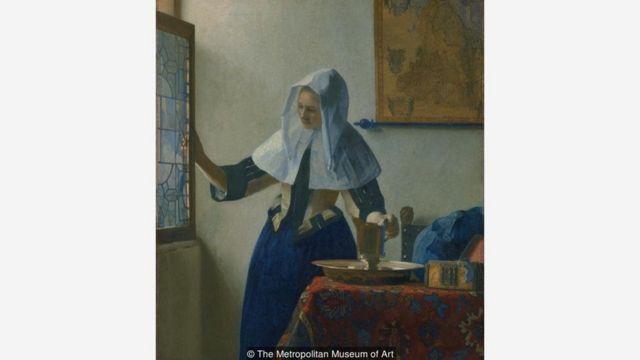 Johannes Vermeer'in 'Sürahili Genç Kadın' adlı tablosu