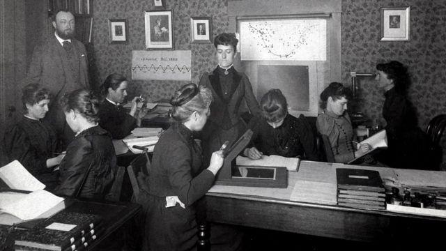 O astrônomo Edward Pickering e as mulheres que eram chamadas de 'computadores' de Harvard