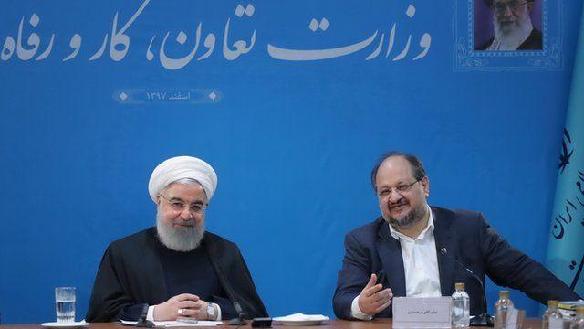 حسن روحانی و محمد شریعتمداری، وزیر کار