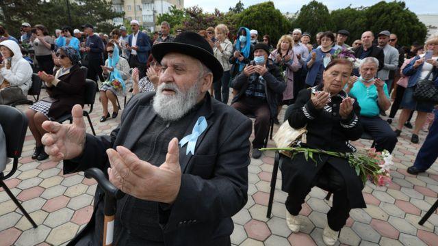 Yevpatoriya. Deportasiya qurbanı olmuş Krım tatarlarının anım gününə həsr olunmuş matəm mitinqi