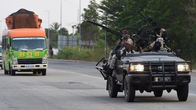 Des éléments de la Garde républicaine ivoirienne