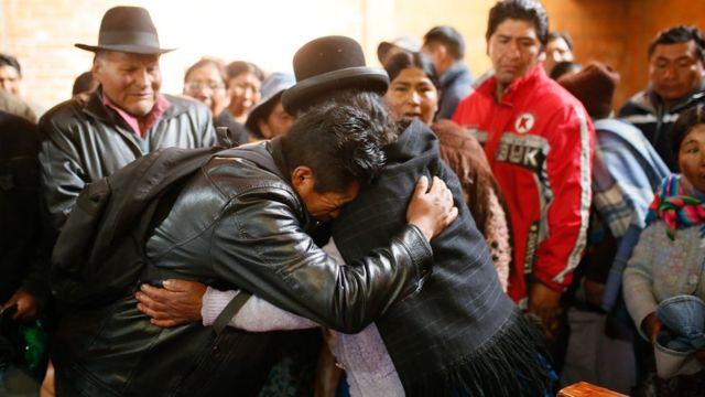 Funerales en El Alto, Bolivia