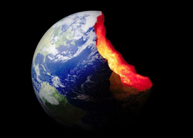 Tierra con mordisco