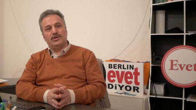 AKP Berlin Seçim Koordinasyon Merkezi (SKM) Başkanı Hasan Ürkmez