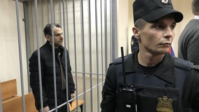 Борис Гриц на заседании Пресненского районного суда