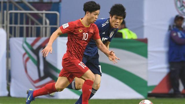 Công Phượng trong trận tứ kết AFC Asian Cup gặp Nhật ở Dubai, ngày 24/1