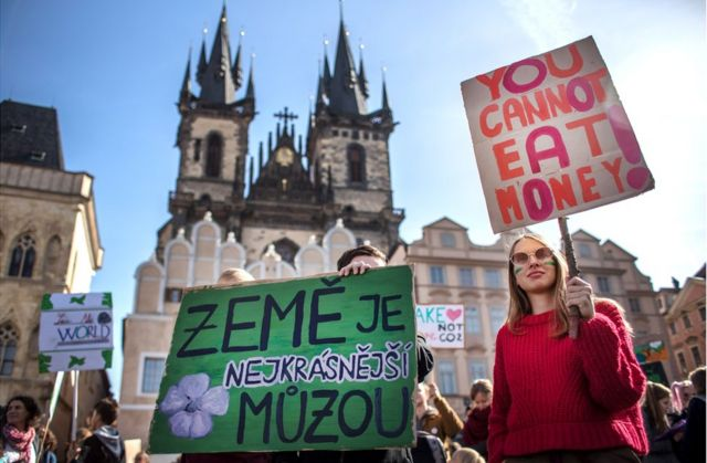 Protestas en Praga