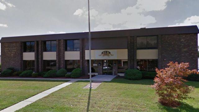 Este es el edificio en el que se edita el Almanaque de Bristol cada año en la ciudad de Westwood, Nueva Jersey.