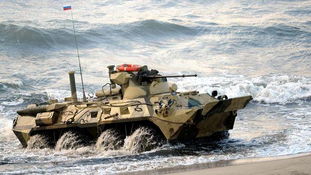 Un tanque ruso en Kaliningrado