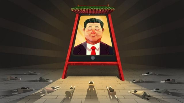 BBC illustration for Chinese censorship piece