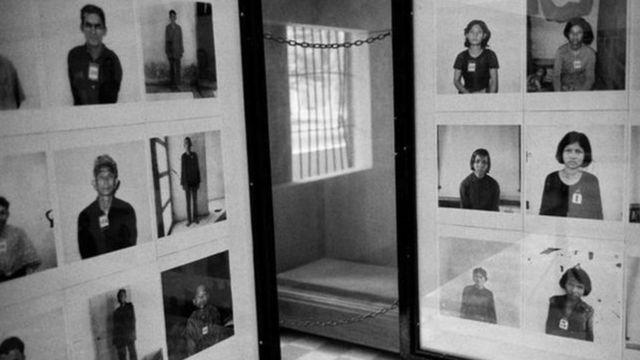 Fotos de prisioneros ejecutados por el Jemer Rojo.