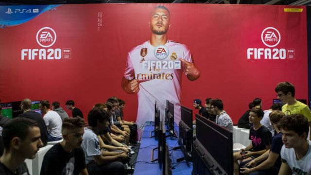 Competición de FIFA 20 en Milán, Italia.