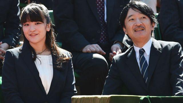 La princesse Mako avec son père