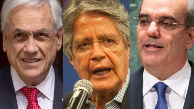 Sebastián Piñera, Guillermo Lasso de Ecuador y Luis Abinader.