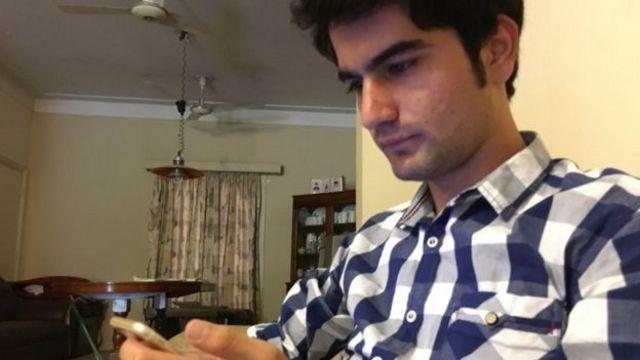 Khalid Amiri, estudiante de 21 años