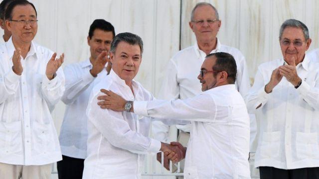 Firma de los Acuerdos de Paz.