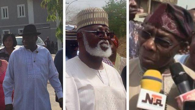 Goodluck Jonathan, Abdulsalami Abubakar ati Olusẹgun Obasanjo