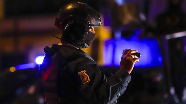Policía mexicano en Sinaloa