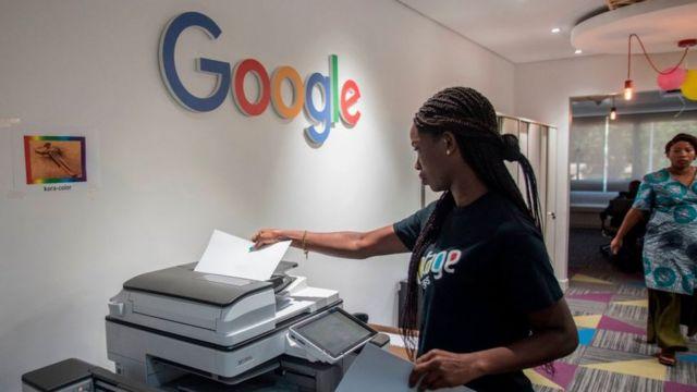 Le bureau de l'intelligence artificielle (IA) de Google à Accra, 2019. C'est le premier centre d'IA établi en Afrique par l'entreprise.